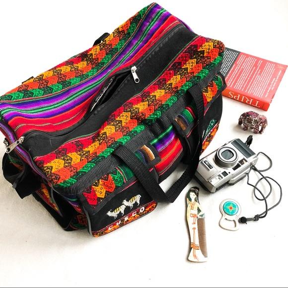 Vintage Handbags - Wanderlust Peruvian Duffel Bag